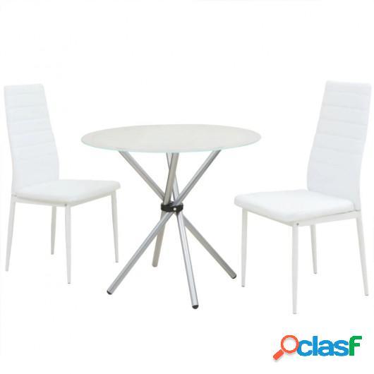 Conjunto de mesas y sillas de comedor de tres piezas