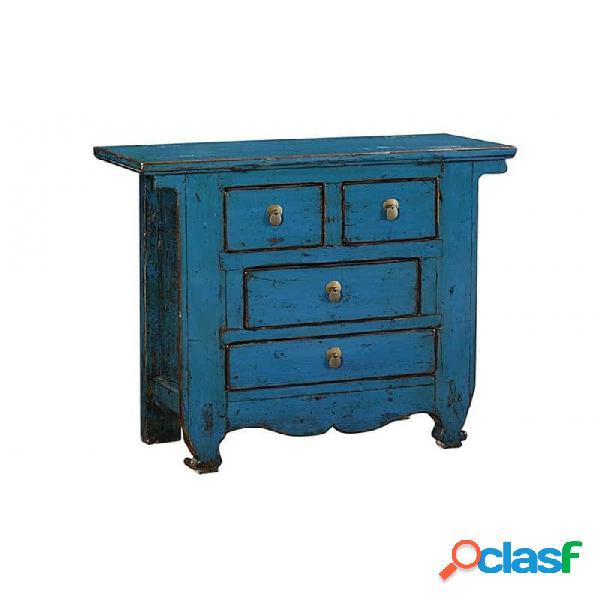 Consola Azul Madera Provenzal 90 X 40 88