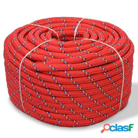 Cuerda marina de polipropileno 16 mm 250 m roja