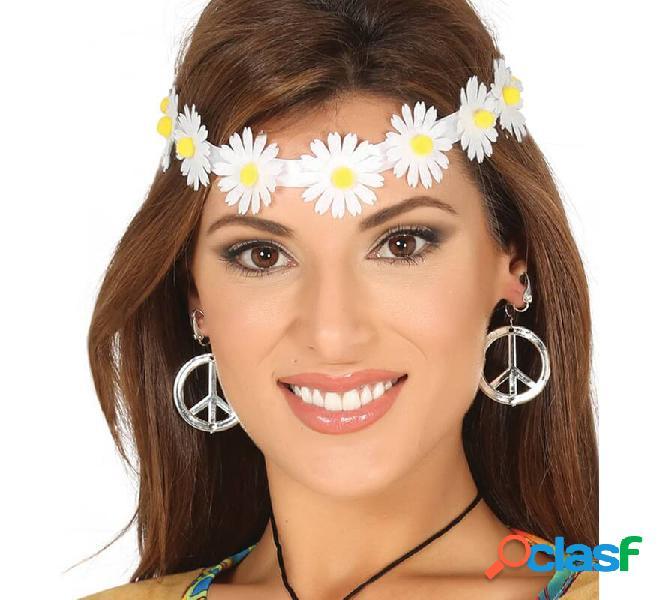 Diadema o Cinta con Flores Blancas