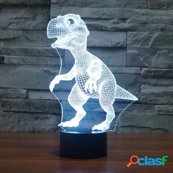 Dinosaurio Colorido 3D LED Luces Batería USB Touch Control