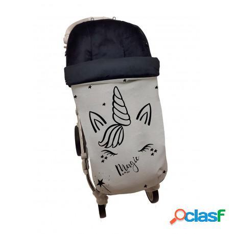 Dy Da Dos - Saco Silla Polipiel Con Pelo Negro Premium Plata
