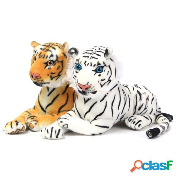 El tigre blanco amarillo de la felpa de los 30cm formó el