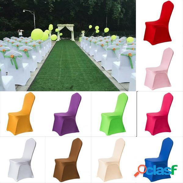 Elegante color sólido elástico estiramiento asiento de la