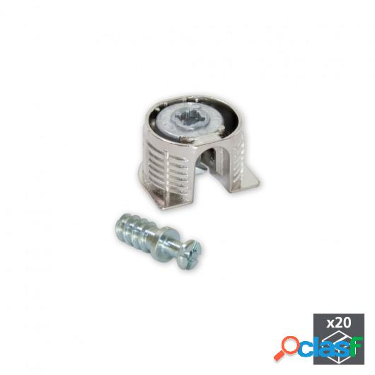 Enganches para fijación estantes, D. 20 mm, 12,5 mm, +