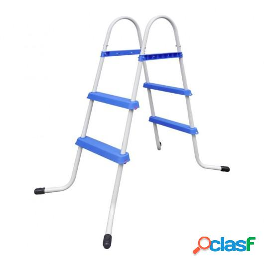 Escalera de Piscina Marco de Acero con Pasos Antideslizantes