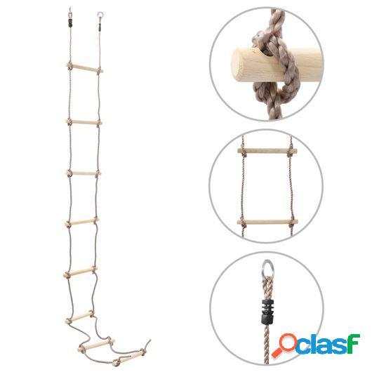 Escalera de cuerda para niños 290 cm madera