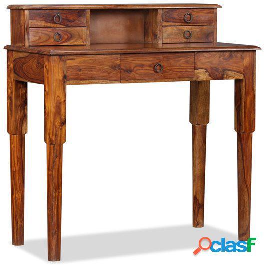 Escritorio con 5 cajones madera maciza de sheesham 90x40x90