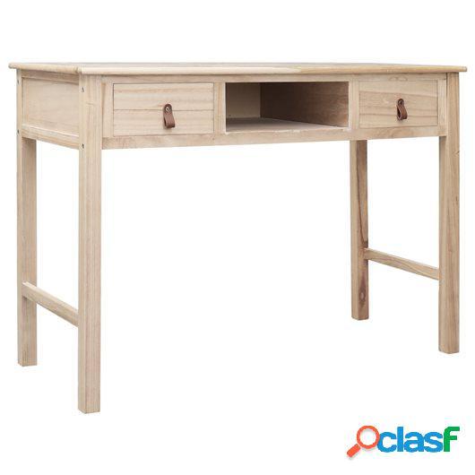 Escritorio de madera color natural 110x45x76 cm