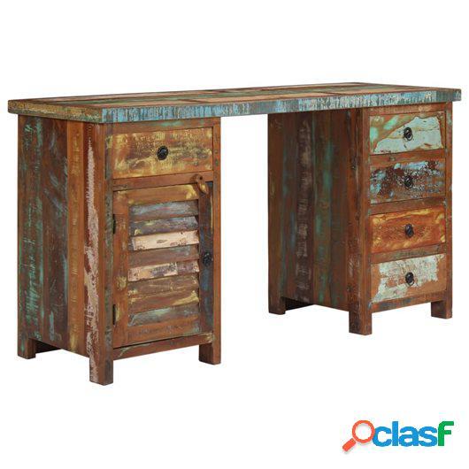 Escritorio de madera maciza reciclada 140x50x77 cm