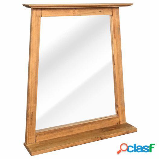 Espejo cuarto de baño madera reciclada pino 70x12x79cm