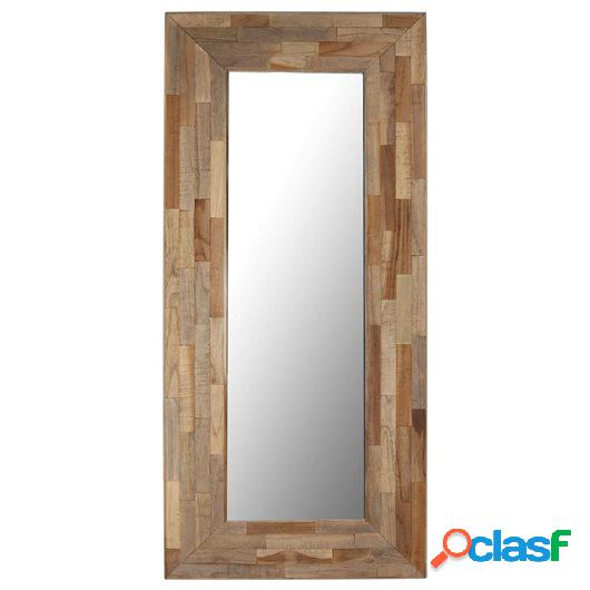 Espejo de madera de teca reciclada 50x110 cm