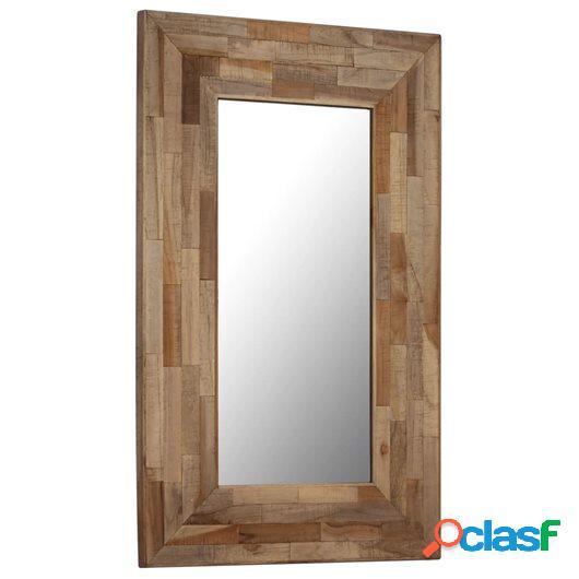 Espejo de madera de teca reciclada 50x80 cm