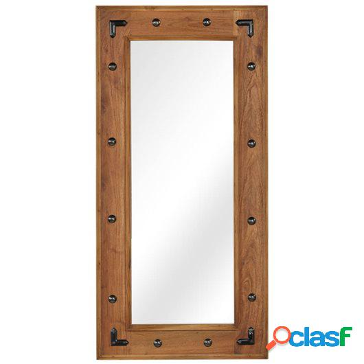 Espejo de madera maciza de acacia 50x110 cm