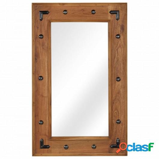 Espejo de madera maciza de acacia 50x80 cm