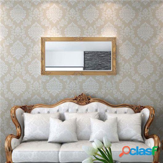 Espejo de pared estilo barroco 120x60 cm dorado