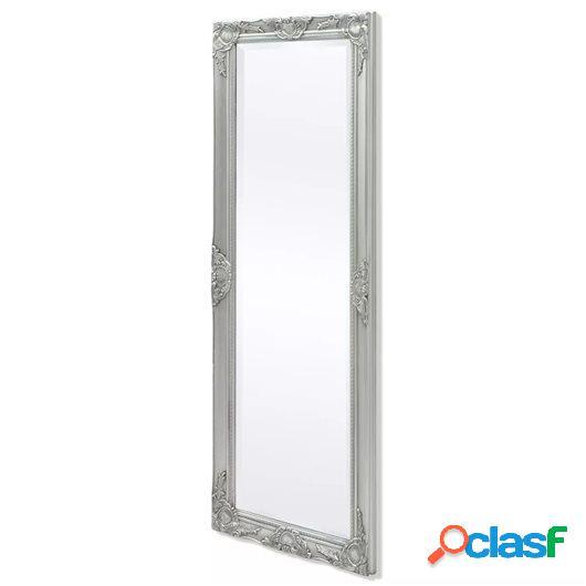Espejo de pared estilo barroco 140x50 cm plateado