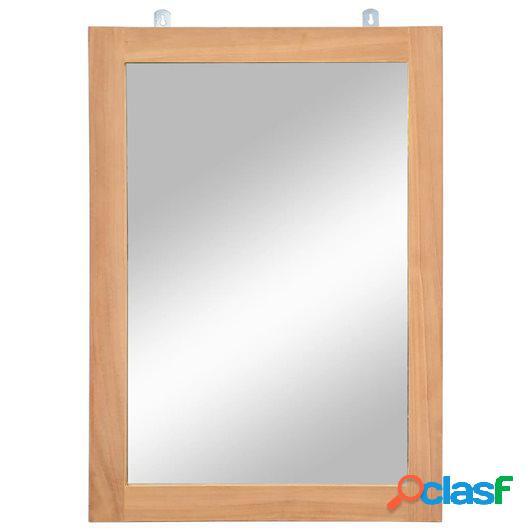 Espejo de pared madera de teca maciza 50x70 cm