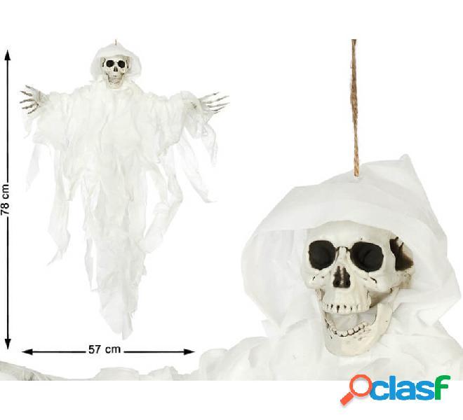 Esqueleto colgante con ojos negros 78X57 cm