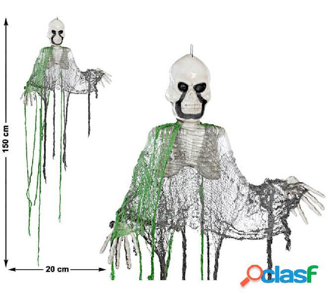 Esqueleto colgante verde y negro 150X20 cm