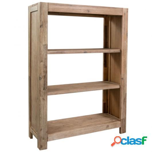Estantería de 3 niveles de madera maciza de acacia