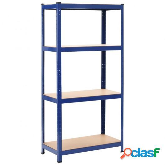 Estantería de acero y MDF 80x40x160 cm azul