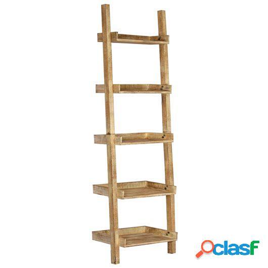 Estantería escalera marrón 75x37x205 cm madera maciza de