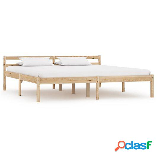 Estructura de cama de madera maciza de pino 180x200 cm
