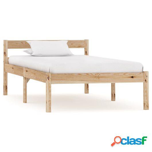 Estructura de cama de madera maciza de pino 90x200 cm