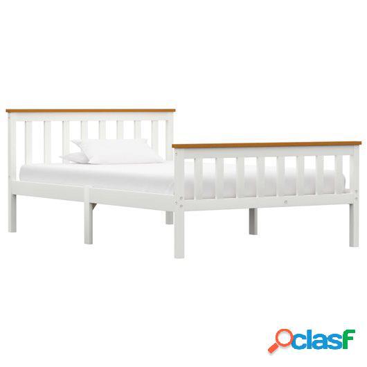 Estructura de cama de madera maciza de pino blanco 120x200