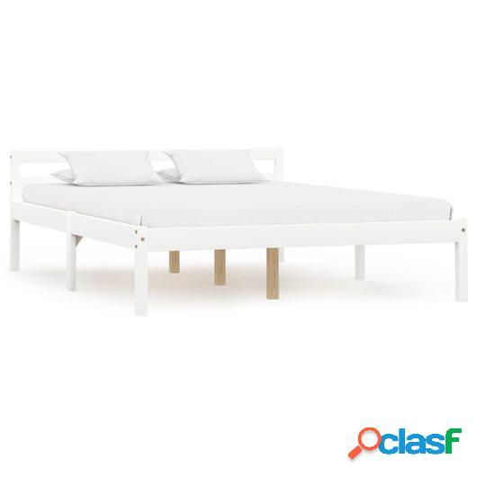 Estructura de cama de madera maciza de pino blanco 140x200