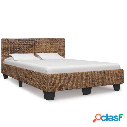 Estructura de cama de ratán natural 140x200 cm