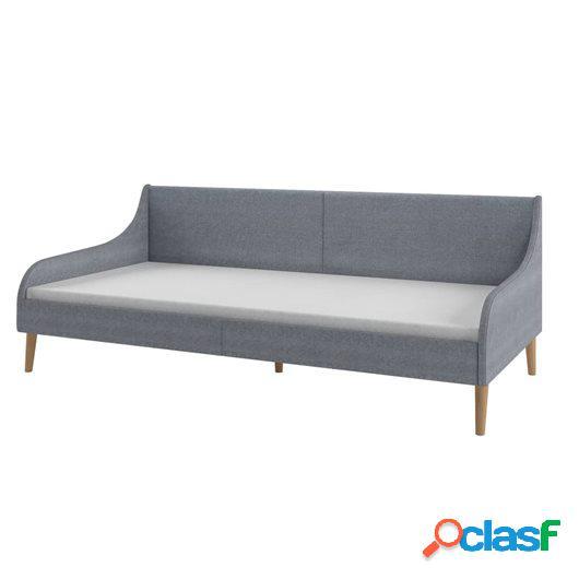 Estructura de sofá cama de tela gris claro