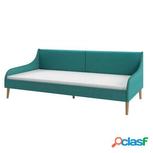 Estructura de sofá cama de tela verde