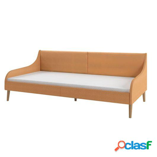 Estructura de sofá cama tela naranja