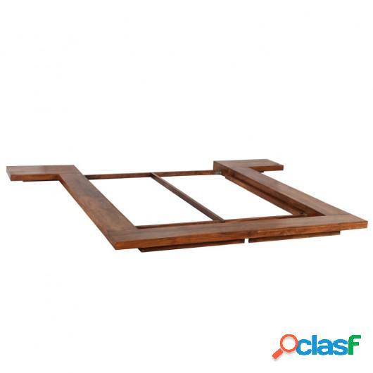 Estructura para futón estilo japonés madera maciza 160x200