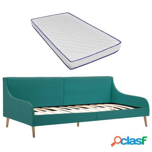 Estructura sofá cama y colchón espuma viscoelástica tela