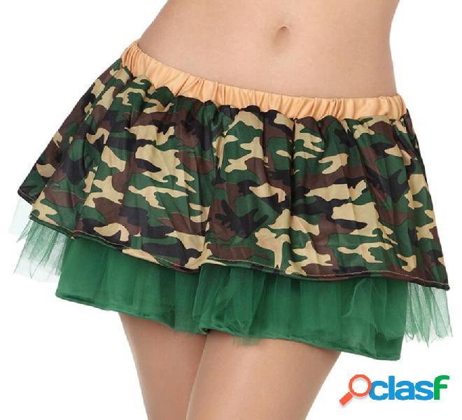 Falda de Camuflaje Militar con Tul para mujer