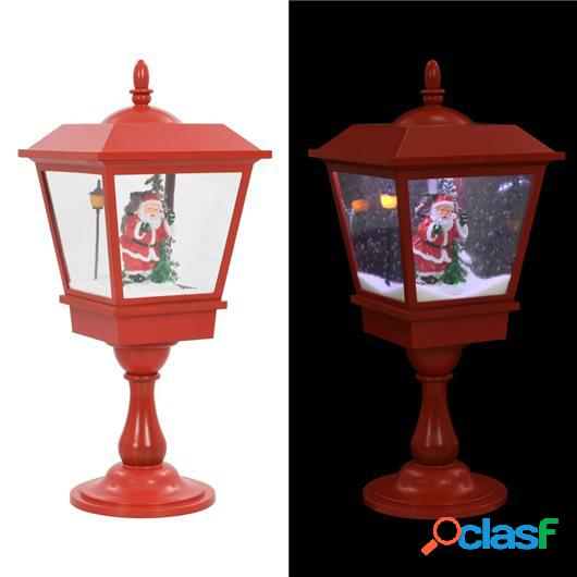 Farol de Navidad con base Papá Noel y LED 64 cm