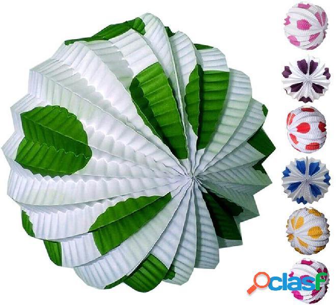 Farolillo blanco con lunares grandes en varios colores
