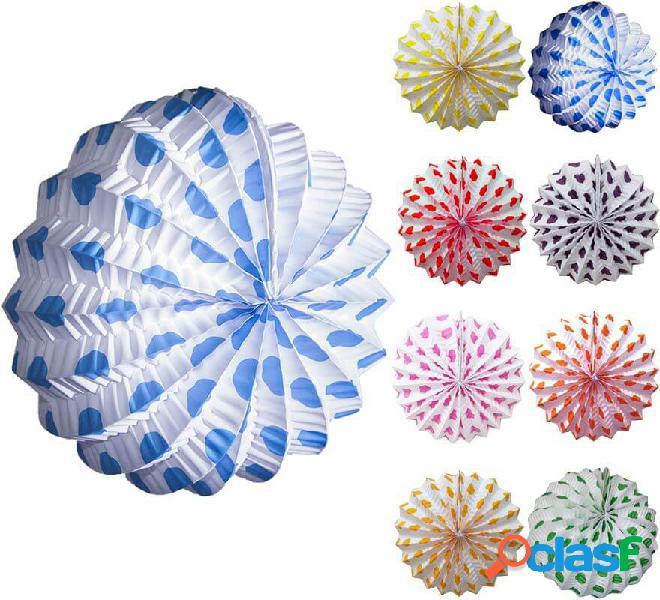 Farolillo blanco con lunares pequeños en varios colores
