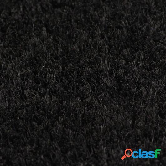 Felpudo de fibra de coco negro 2 unidades 24mm 40x60 cm