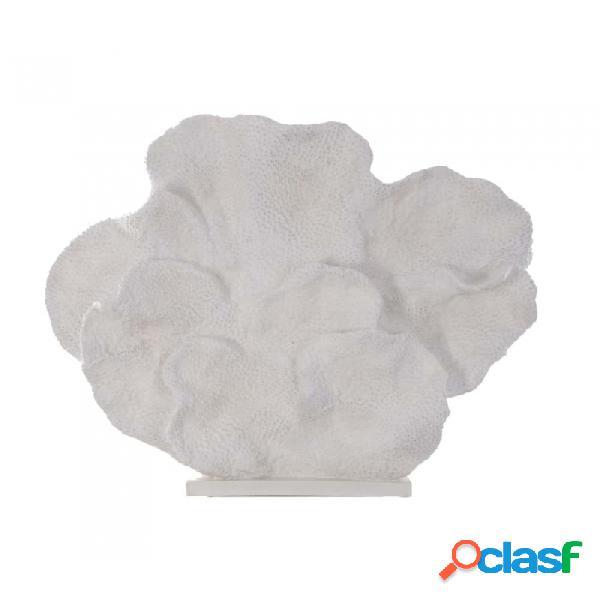 Figura Coral Blanco Resina 95 X 14 86