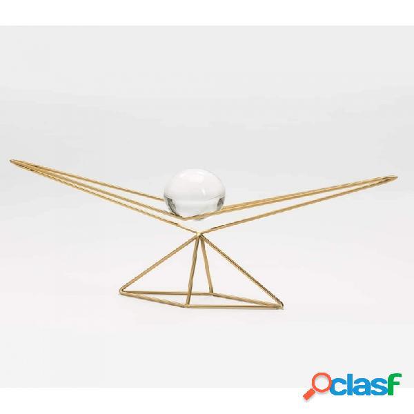 Figura Cristal Y Metal Moderno 69x11x26