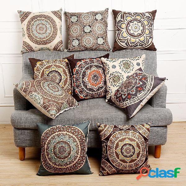 Funda de almohada de lino de algodón de estilo bohemio