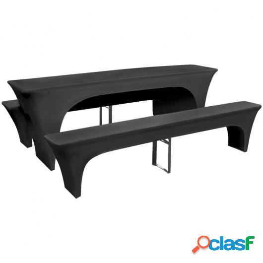 Fundas para mesa y bancos de exterior ajustada antracita 3