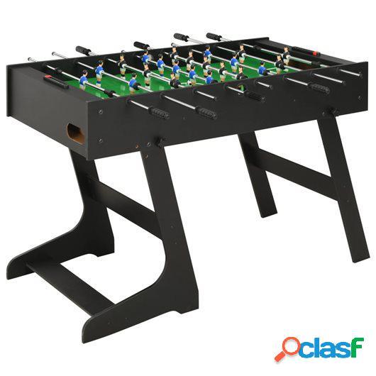 Futbolín plegable negro 121x61x80 cm
