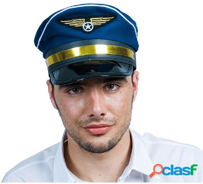 Gorra de Piloto azul y dorada