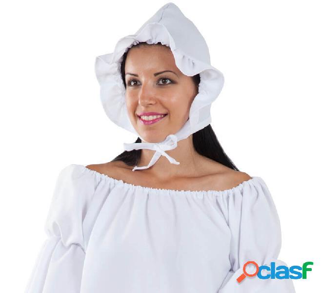 Gorro Blanco de Campesina Medieval para mujer