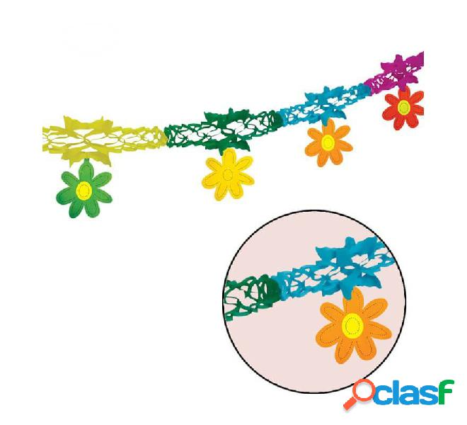 Guirnalda con Flores de fantasía 14 cm x 2 m